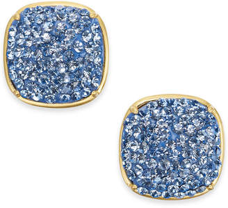 Kate Spade Gold-Tone Pave Square Stud Earrings