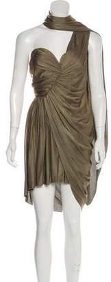 Alexander Wang One-Shoulder Ruched Dress