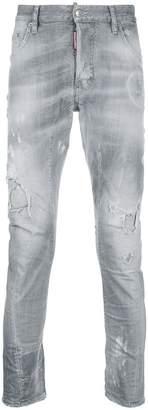 DSQUARED2 Broken slim jeans