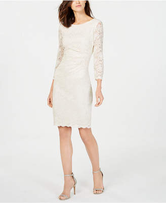 Jessica Howard Metallic Lace Sheath Dress