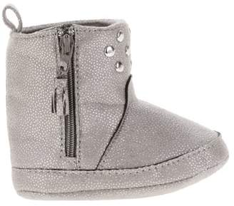 First Steps by Stepping Stones First Steps Newborn Baby Girls' Studded Sparkly Faux Suede Boots