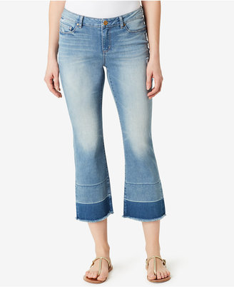 Vintage America Boho Cropped Flare Jeans $69.50 thestylecure.com