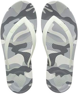 FitFlop Men's IQUSHION CAMO Open Toe Sandals, (Urban White Mix 646), 42 EU