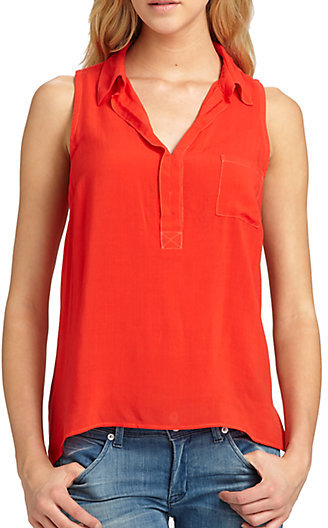 Splendid Two-Tone Collared Tank