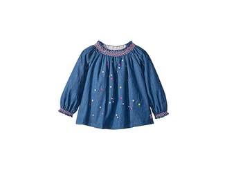 Joules Kids Star Embroidery Woven Top (Infant)