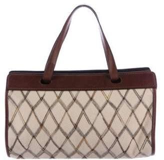 Missoni Leather-Trimmed Canvas Bag