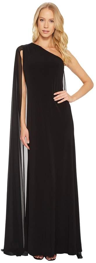 Calvin Klein - One Shoulder Cape Gown CD7B15FV Women's Dress