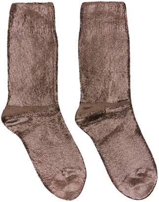 Ann Demeulemeester Copper Laminated Socks