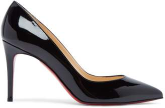 Christian Louboutin Pigalle 85 Patent Leather Pumps - Womens - Black