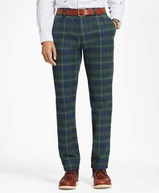 Brooks Brothers Stewart Hunting Tartan Brushed Cotton Twill Chinos