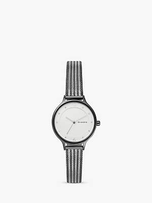 Skagen Women's SKW2750 Two Tone Bracelet Strap Watch, Gunmetal