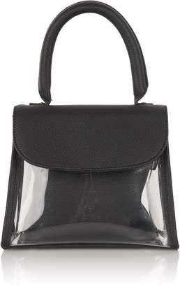 142b028dccb4 ... Fivestory New York Mini PVC Top Handle Bag in Black