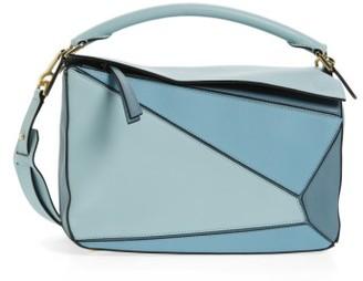 Loewe 'Medium Puzzle' Colorblock Calfskin Leather Bag - Blue $2,450 thestylecure.com