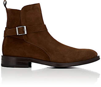 Barneys New York MEN'S SUEDE JODHPUR BOOTS