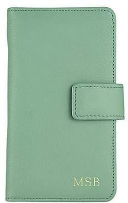 GiGi New York Personalized Leather iPhone 6 Case Wallet
