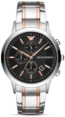 Emporio Armani Two-Tone Stainless Steel Chronograph, 43mm