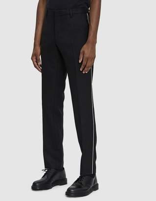 Dries Van Noten Slim Wool Trouser in Black