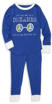 Rowdy Sprout Baby Boy's, Little Boy's& Boy's Two-Piece Dreamer Bamboo Pajama Set - True Blue - Size 4T
