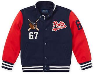 Ralph Lauren Little Boy's Bear Baseball Jacket