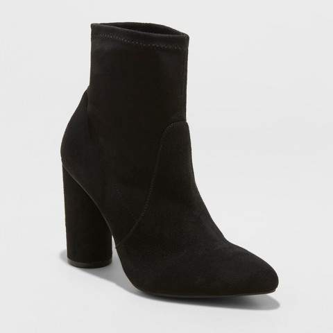 A New Day Women's Norma Cylinder Heeled Bootie