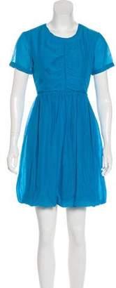 Burberry Pleated A-Line Dress