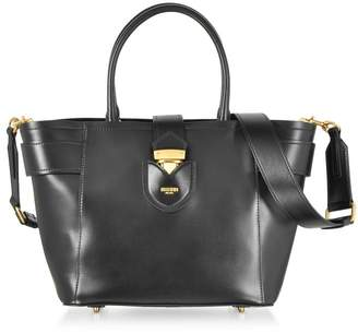 Moschino Black Leather Tote Bag W/shoulder Strap