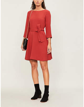 Claudie Pierlot Boat-neck crepe dress
