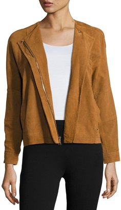 Vince Nubuck Leather Jacket, Brown $749 thestylecure.com