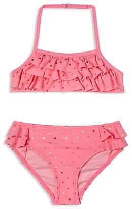 Hula Star Girls' Twinkle Star 2-Piece Ruffled Swimsuit - Little Kid