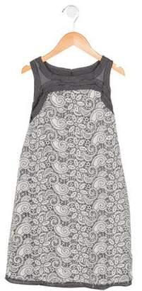 Ermanno Scervino Girls' Embroidered Shift Dress