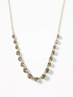 Old Navy Crystal-Stone Chain Necklace for Women
