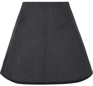 Carven Wool And Cashmere-blend Mini Skirt - Gray