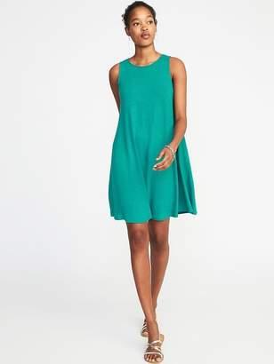 Old Navy Sleeveless Linen-Blend Swing Dress for Women