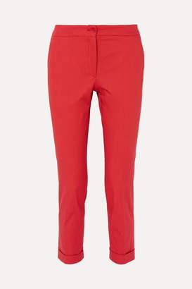 Etro Cotton-blend Canvas Slim-leg Pants - Red