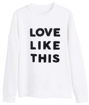 MANGO Love message sweatshirt