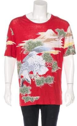 Gucci 2016 Eagle Print Linen T-Shirt