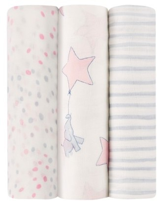 Aden + Anais Silky Soft Pack Of 3 Swaddling Cloths $45 thestylecure.com