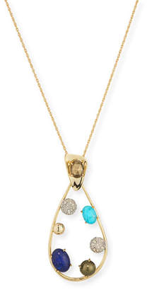 Alexis Bittar Crystal Teardrop Pendant Necklace
