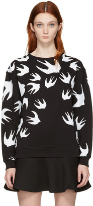 McQ Alexander McQueen Black Swallow Pullover $275 thestylecure.com