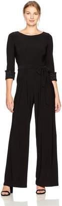 Eliza J Women's Jumpsuit with Beaded Cuffs
