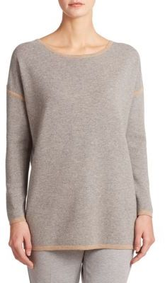 Max MaraOsaka Wool/Cashmere Contrast Trim Sweater