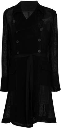 Ann Demeulemeester double-breasted trench coat