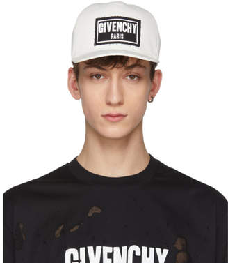 Givenchy White Box Logo Cap