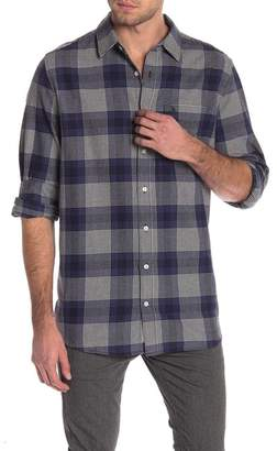 Original Penguin Brushed Plaid Long Sleeve Shirt (Big & Tall)