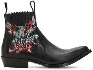 Givenchy Save Our Soul Leather Cowboy Boots