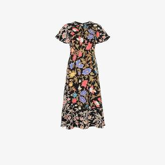 Peter Pilotto Flared floral print short sleeve dress