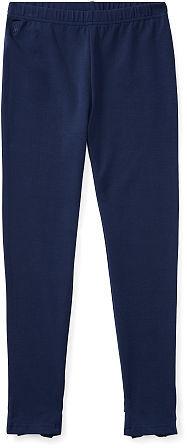Ralph Lauren Girls 7-16 Bow-Back Jersey Legging