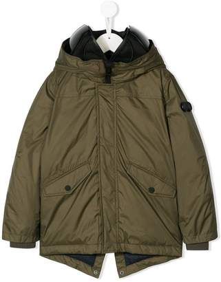 AI Riders On The Storm Kids hooded parka coat