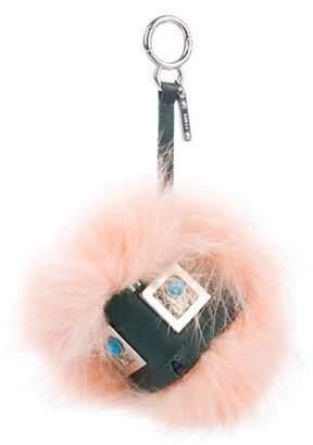 Fendi Prism Triangle Monster Bag Bug Charm Pink Prism Triangle Monster Bag Bug Charm