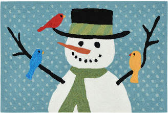 Liora Manné Liora Manne' Front Porch Indoor/Outdoor Snowman And Friends Blue 2' x 3' Area Rug